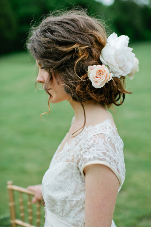 Bride with Flowers in Hair