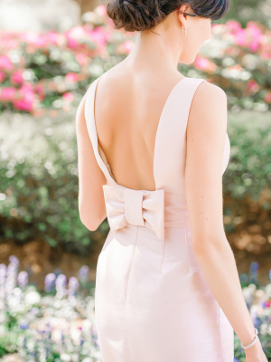 Bridesmaids Dress with Bow