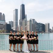 Bridesmaids by Lake Michigan