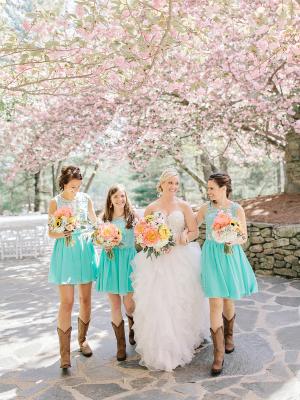 Bridesmaids in Cowboy Boots