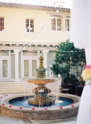 Cafe Lights Over Fountain Wedding Venue Ideas