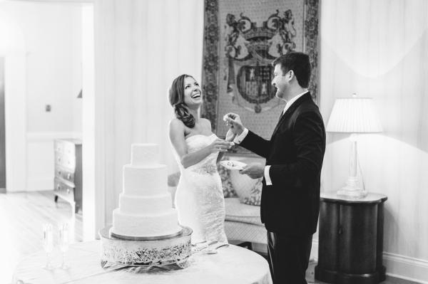 Cake Cutting Pawleys Island Wedding