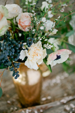 Centerpiece with Berries and Anemones