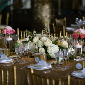 Centerpiece with Rose and Hydrangea