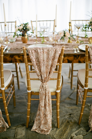 Chair Cover in Rose Gold