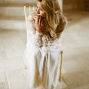 Claire Pettibone Sleeved Gown