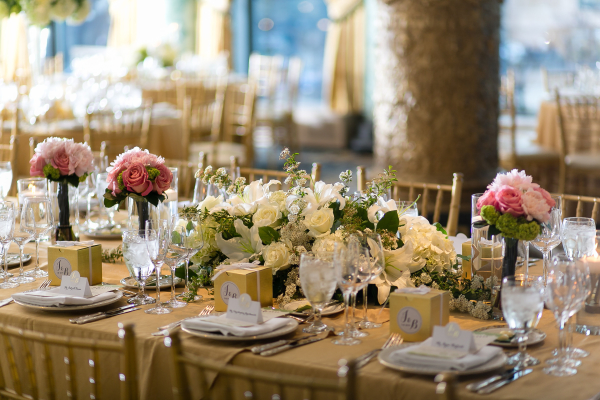 Classic Gold and Ivory Wedding Table