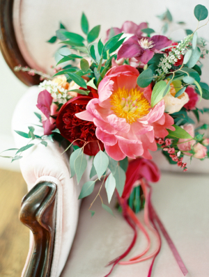 Colorful Ribbon Tied Bouquet