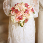Coral Pink Ivory Bouquet