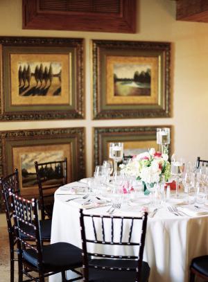 Dark Cherry Chiavari Chairs at Reception
