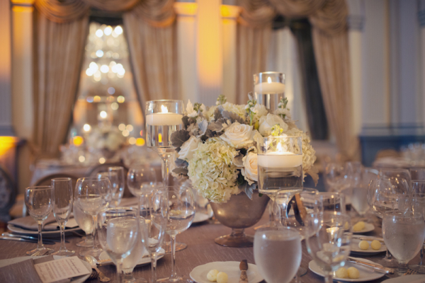 Elegant Gray and Ivory Reception