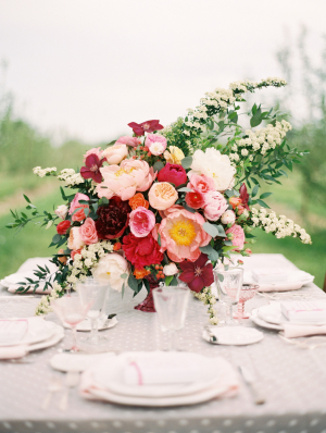 Elegant Pink and Red Centerpiece