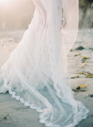 Ethereal Veil on Beach