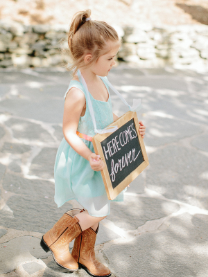 Flower Girl in Cowboy Boots
