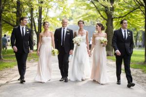 Flowing Pale Pink Bridesmaids
