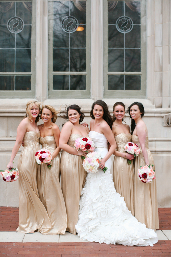 Gold Bridesmaids Dresses