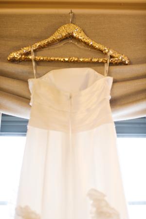 Gold Glitter Wedding Dress Hanger