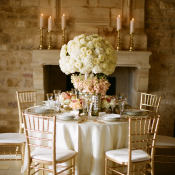 Gold Ivory Pink Tabletop