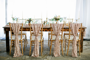 Gold Sparkly Chair Covers