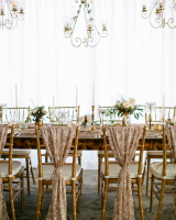 Gold Table with Chandeliers
