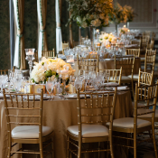 Gold Wedding Tables