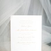 Gold and Ivory Wedding Invitation