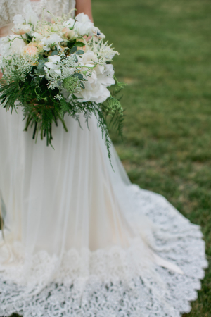 Gown with Lace Train