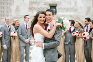 Gray and Gold Wedding Party