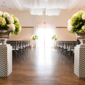 Green and White Hydrangea Arrangements