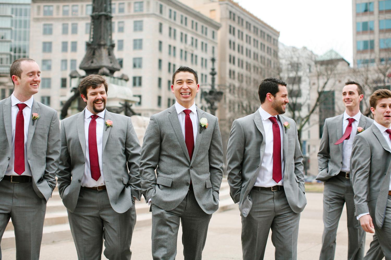 Groomsmen in Burgundy Ties - Elizabeth Anne Designs: The Wedding Blog
