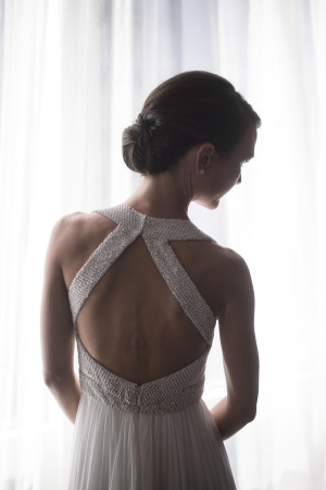 Halter Back Bridal Gown
