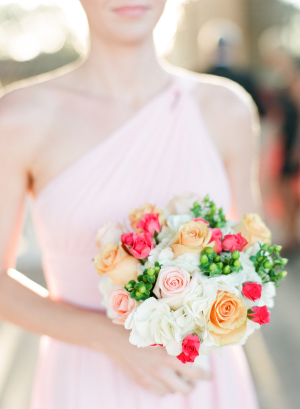 Hypericum Berry and Rose Bouquet