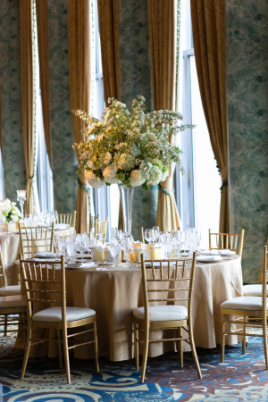 Ivory Gold and Green Reception