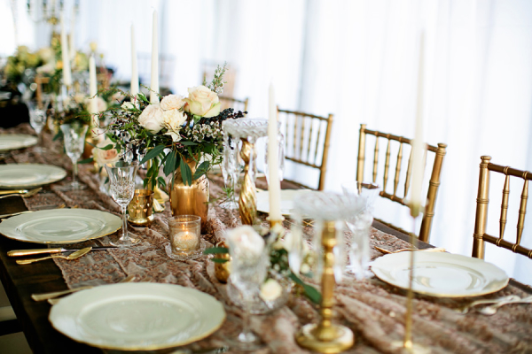 Ivory and Gold Wedding Table
