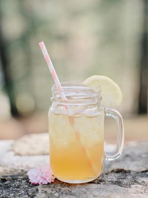 Lemonade with Striped Straw