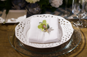 Orchid at Place Setting