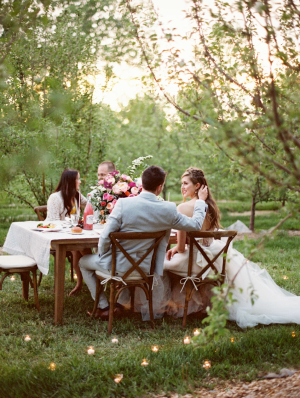 Outdoor Orchard Wedding Setting