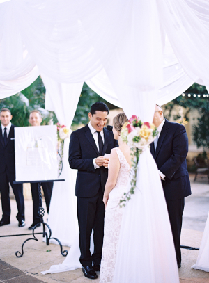 Outdoor Wedding Ceremony With Ketubah