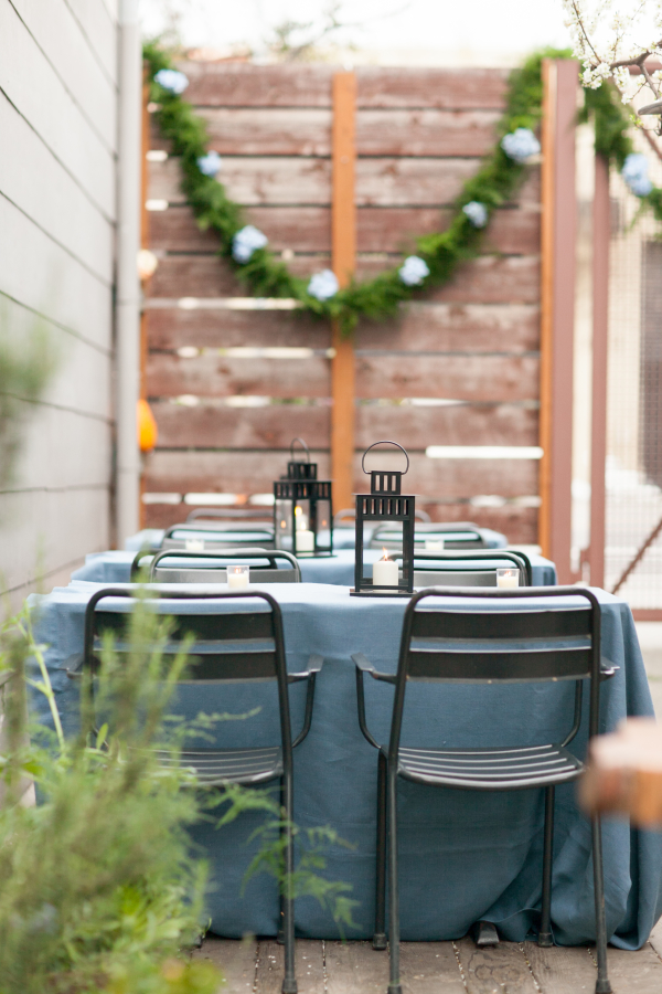 Outdoor Wedding with Greenery Garland