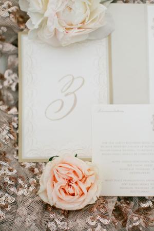 Pale Gold Wedding Stationery