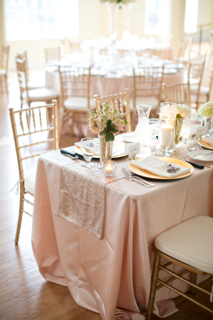 Pale Pink and Gold Wedding