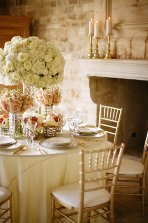 Pale Pink and Gold Wedding Table