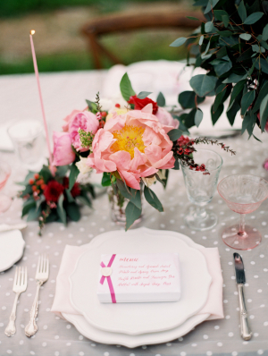 Pink Red and Gray Tabletop