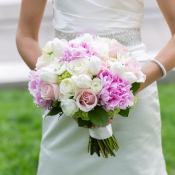 Pink and Ivory Spring Bouquet