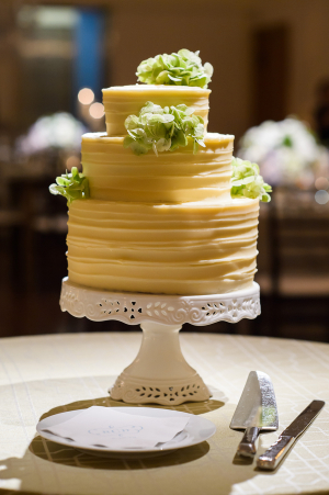 Pretty Yellow Wedding Cake