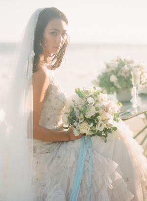 Romantic Bride on Beach