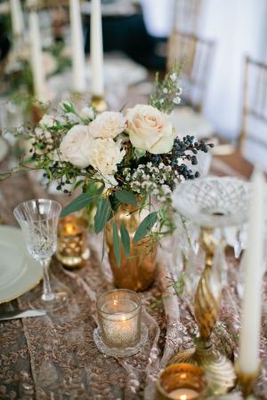 Rose Gold Centerpiece