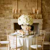 Rose Gold and Ivory Wedding Table