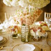 Rose Hydrangea Elegant Centerpiece