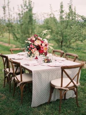 Rustic Elegant Pink Wedding Table